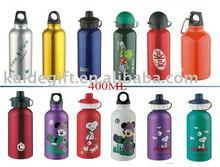 hot sell 400ML aluminum water bottle passed SGS,FDA,BPA ,LFGB test