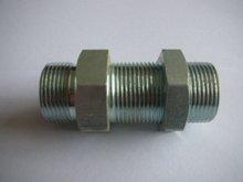 carbon steel DIN hydraulic straight bulkhead fitting