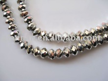 Painted real silver black glass ball beads