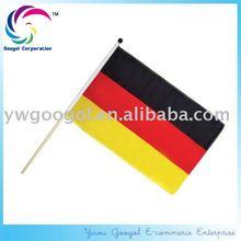 Printed Eco-friendly German Hand Shaking Flag, Germany Hand Held Flag