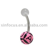 UV Acrylic Heart shape belly rings Navel rings Body Jewelry