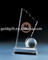 Favorites Compare 2014 new design wholesale golf crystal trophy