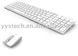 new white 2.4G wireless keyboard/mouse combo