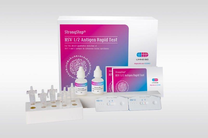 Prueba rápida Herpes Simplex Virus 1/2 de administración de antígenos