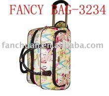 fashion ladies colorful luggage