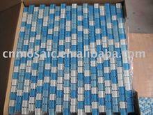 Fresh blue mix white bathroom/swimming pool crystal glass mosaic