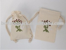 drawstring cotton shoes bag