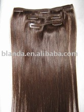 Virgin hair in natural colour, very pretty clip in hair extensions