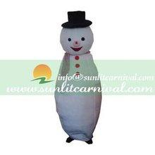 short plush fabric snow man mascot costume For Christmas Use