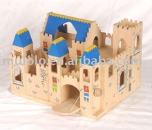 Wooden folding medieval castle toys