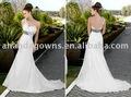 Ananda sexy. une épaule perles de luxe en satin zuhair murad plus la taille robe de mariage de mode vestido de noiva 2014