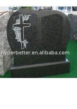 Impala black cross headstone,cross gravestone,cross tombstone