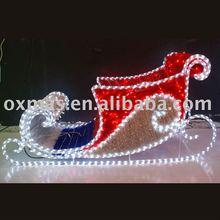 PVC & Light big christmas light sleigh