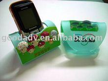 promotional soft pvc desktop mobile phone holder