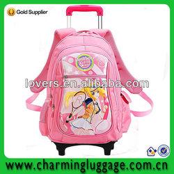 kids school trolley bag/school bag with trolley
