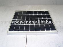 50W Monocrystalline solar panel with CE, VDE IEC, CSA-UL