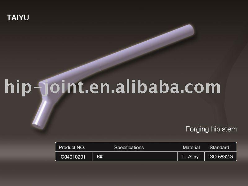 titanium hip prothesis and mrsa