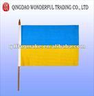 Ukraine hand held stick flag