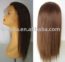 2012 Hot selling Natrual straight human hair wigs for black women, u part wig