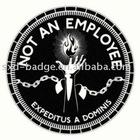 Metal round black printed lapel pins