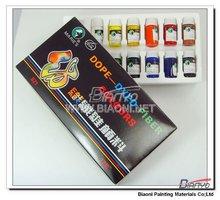 Marie's 12 color fibre color paints