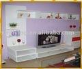 Modern tv stand de madeira com lacagem, móveis para casa, mdf tv stand
