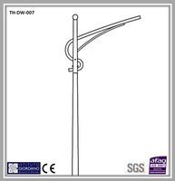 FRP lighting pole with single galvanized arm-price list