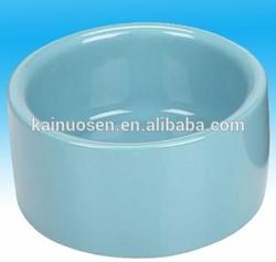 Light blue Ceramic pet bowl