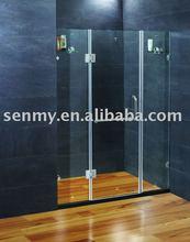 frameless flat shower door