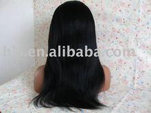 hair length16'' color 1# yaki ear to ear stretch wigs high quality 100% human hair full lace