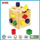 Wooden geometric Shape block Box Toy