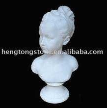Marbre buste de jeune femme ou une fille Marie Antoinette