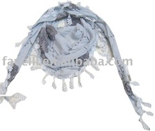 2012 Ladies Fashion Cotton Lace Scarf With Stock