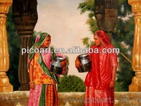The indian women oil painting