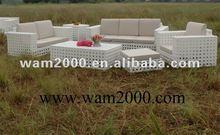 2012 patio garden Aluminum PE rattan sofa sets for outdoor