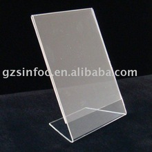 Acrylic L shape photo display frame