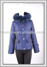 """LUOMIANA"" BRAND High-quality Lady`s Winter Down Coat With Fox Fur Collar"
