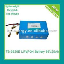 TB-3620E li-ion battery 36v 20ah + PCM Lithium polymer battery