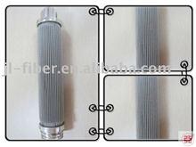 High temperature pleated filter cartridge