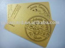 Silkscreen Printed Golden Foil Business Card