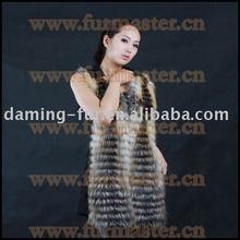 Cashmere & silver fox fur vest/sense of hierarchicy