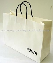 Machine made pliable shopping bag