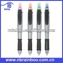 New fashion hot selling ball pen with highlighter for promotion