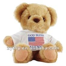 plush stuffed teddy bear with T-shirt