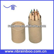 Hot selling novelty recycled 12 piece colored pencil sets for promotion