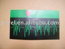 Newest equalizer custom design 3d led/EL sound active panel for t-shirt