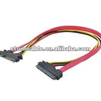 22Pin Sata Extension Cable 15+7 Pin Male to Female SATA Data Power Cable