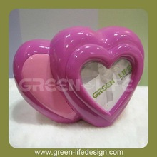 Polyresin Heart Shaped Coin case with Photo Frame