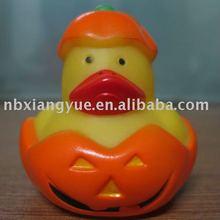 halloween pumpkin duck