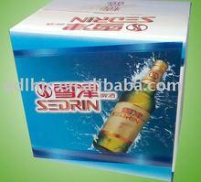 Blue print beer box